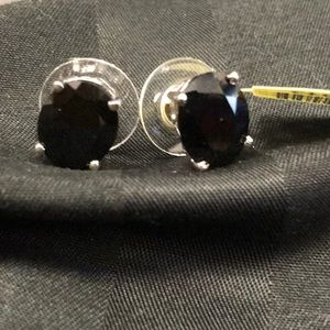 NWT STERLING AND BLACK ONYX POST EARRINGS